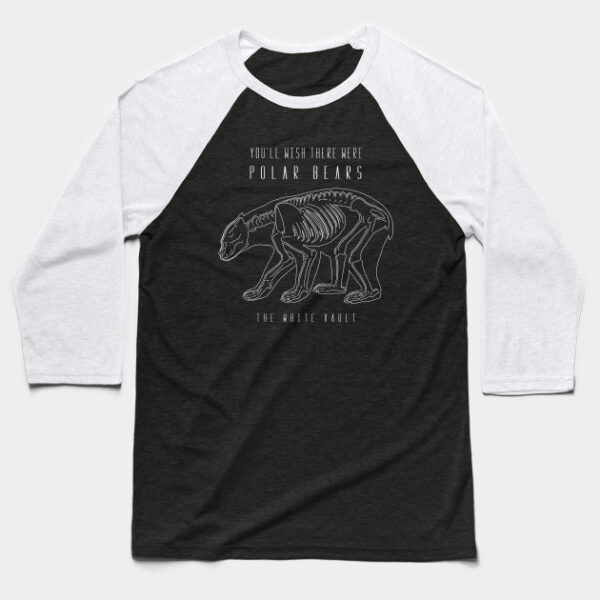 Polar Bear White - BASEBALL T-SHIRT