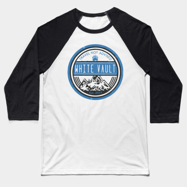 Travel Not Advised - White Transparent - BASEBALL T-SHIRT