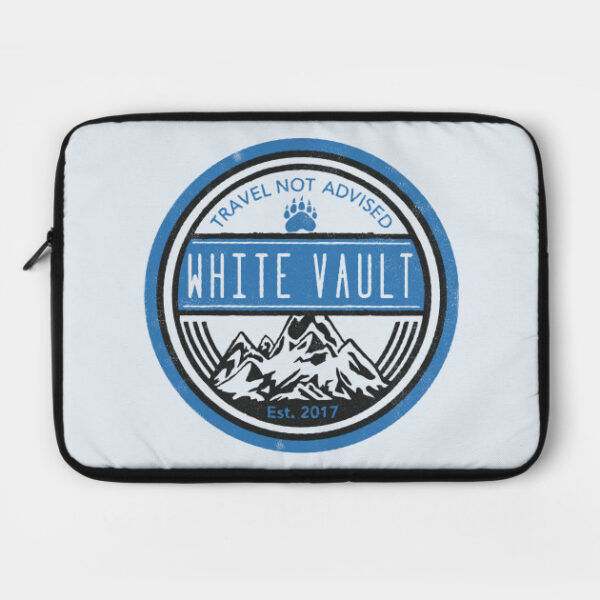Travel Not Advised - White Transparent - LAPTOP CASE