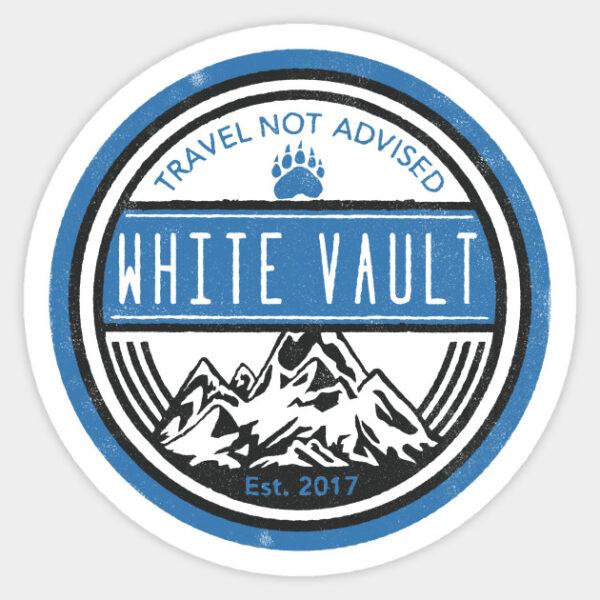 Travel Not Advised - White Transparent - STICKER
