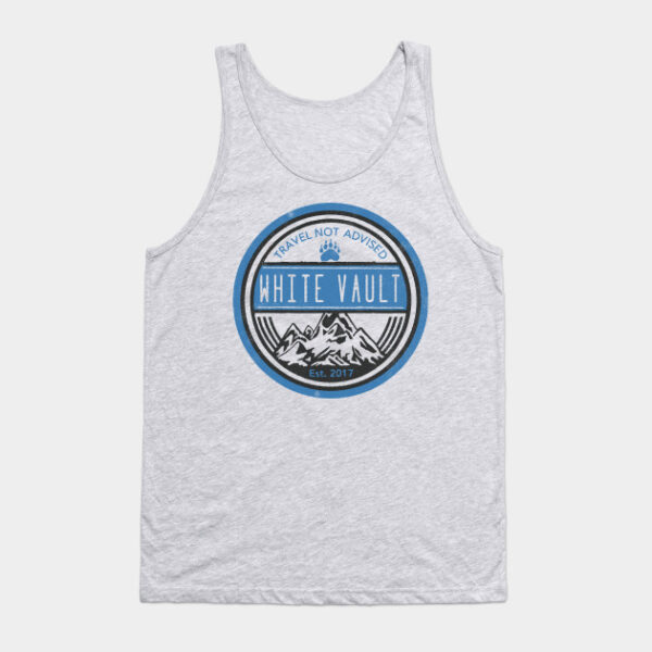Travel Not Advised - White Transparent - TANKTOP